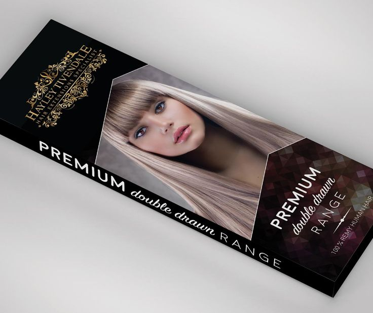 #HairExtensions #Packaging design for Hayley Tivendale Hair Extensions