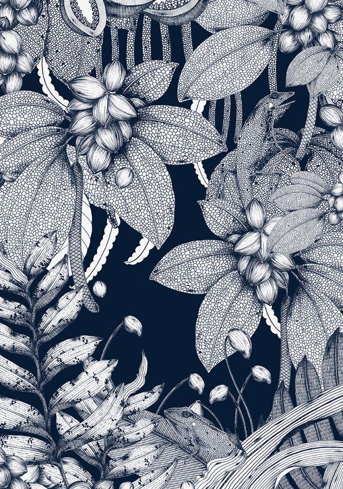 The Isolated Land | Silk screen print by Suthipa Kamyam, an artist/illustrator based in Bangkok, Thailand