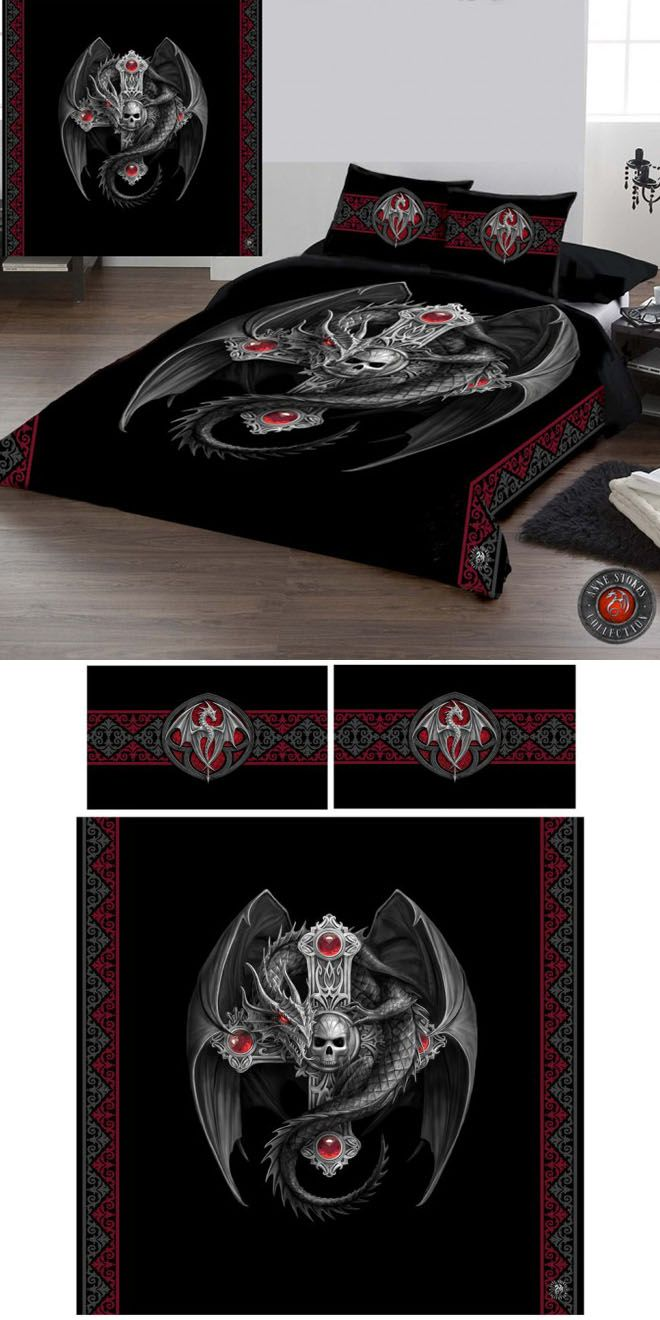 Anne Stokes Gothic Dragon Double Duvet Cover Set - £69.99 : From ANGEL CLOTHING