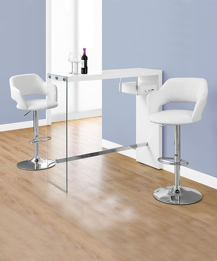 White Tempered-Tempered Glass Bar Table