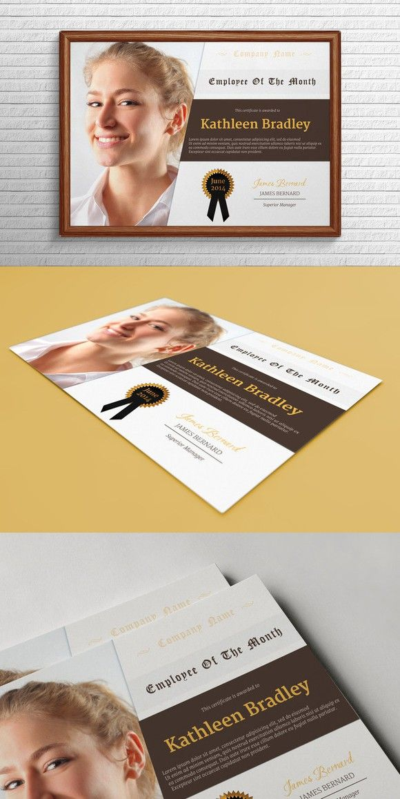 Employee Of The Month Certificate. Stationery Templates