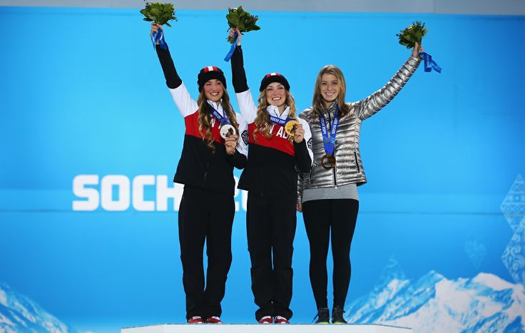 Canada wins gold and silver in Women's Moguls - Justine & Chloé Dufour-Lapointe - two sisters from Quebec. (Sochi 2014 - Canadian Olympics).