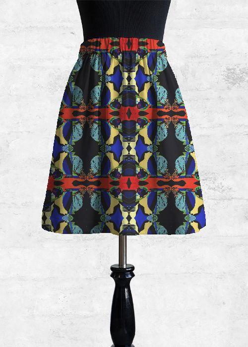 Cupro Skirt - Aqua by VIDA VIDA Limited Edition Online bIaLCw5b