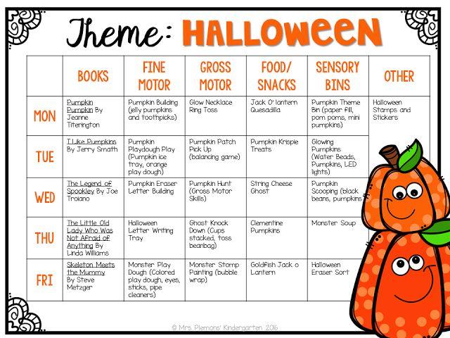 Mrs. Plemons' Kindergarten: Tot School Pumpkins & Halloween
