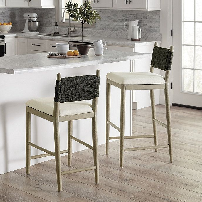 Blakely Seagrass Bar Counter Stool In 2021 Counter Stools Kitchen Decor Modern Stools For Kitchen Island