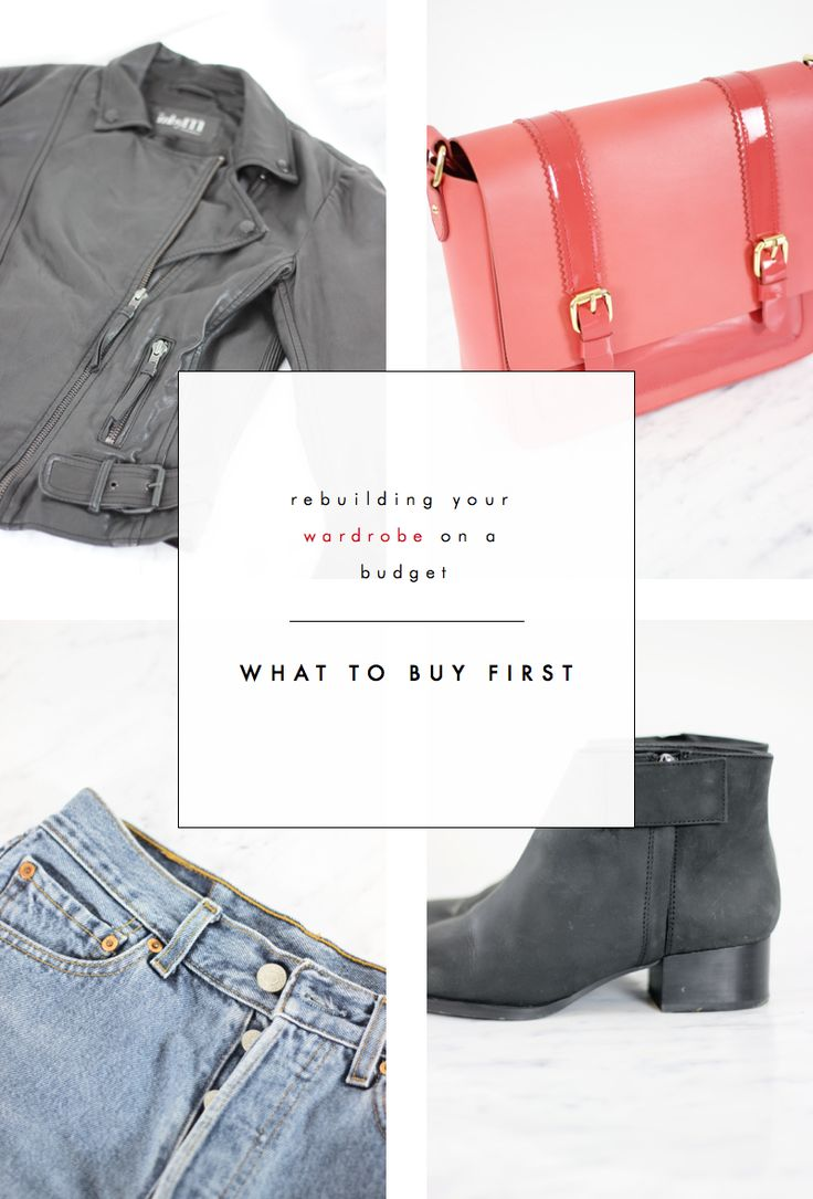 Rebuilding your Wardrobe on a Budget: What to Buy First - good links here