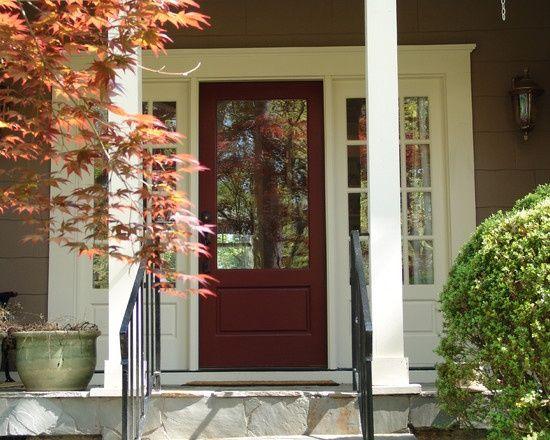 Red Front Door Brown House 305 best exterior style images on pinterest | front door colors