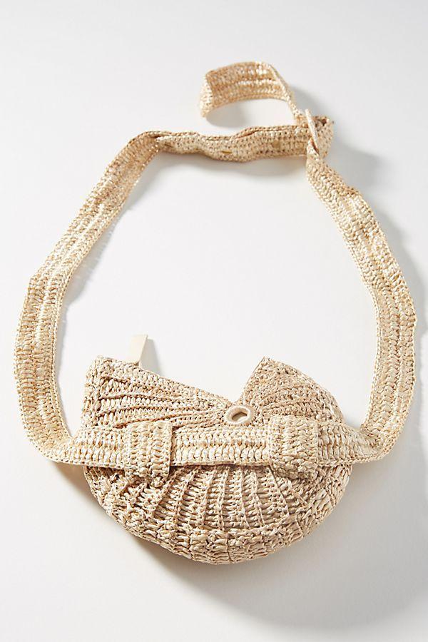 a7e003c7e187 Raffia Shell Belt Bag   Belt bags   Bags, How to wear, Belt