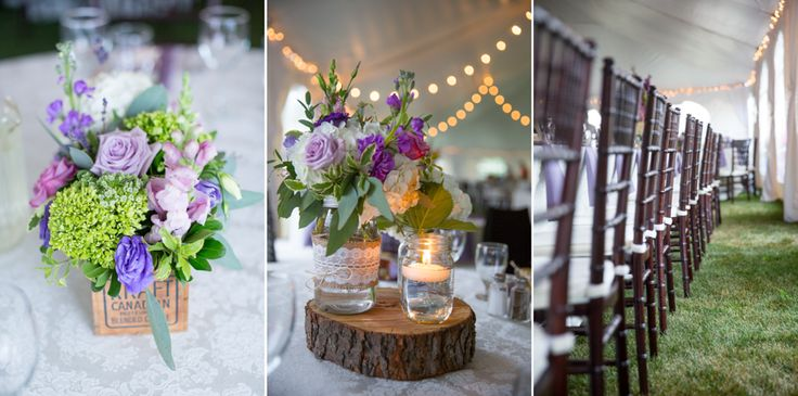 Vintage decor themed tent wedding in Aylmer