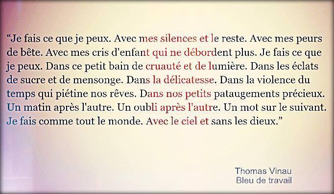 """Thomas Vinau """"Bleu de travail"""""""