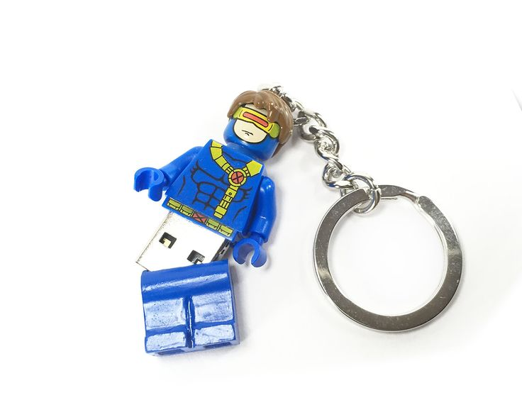 Lego Cyclops X-Men USB Minifig Keychain 8Gb 16Gb 32Gb 64Gb by DFXLegoMinifigs on Etsy