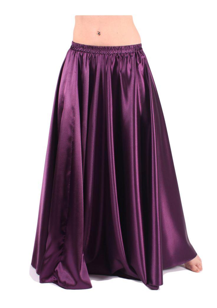 Jupe danse orientale Dristi agréable à porter de couleur violette pour compléter votre costume de danse orientale avec un soutien gorge et une ceinture