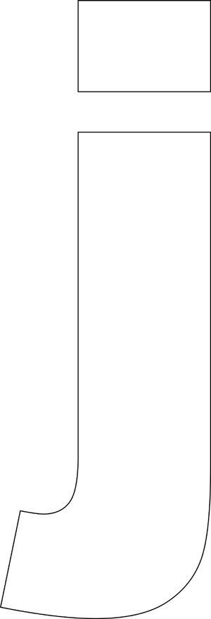 Free Printable Lower Case Alphabet Template: 'j' - Free Printable Lower Case Alphabet Template