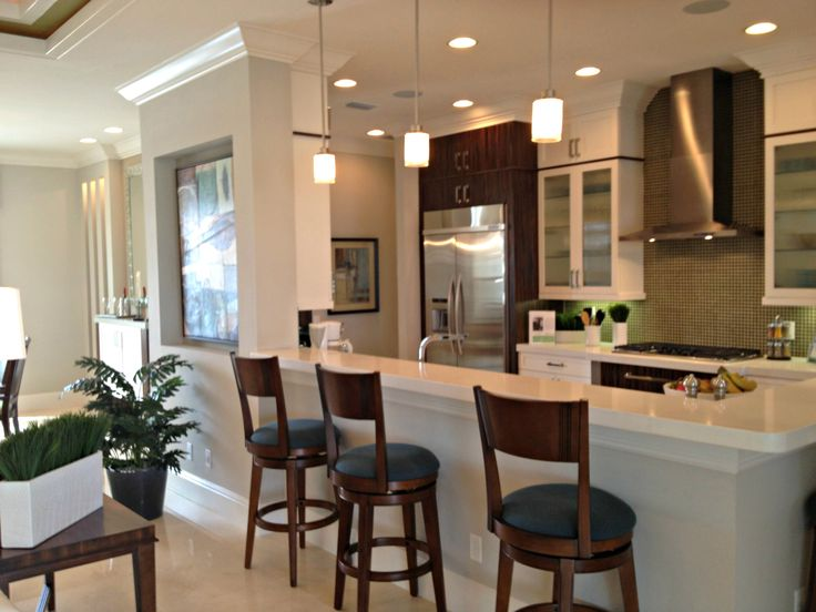73 best kitchen cabinets images on pinterest home for Model home kitchens