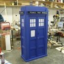 """This is an instructable of how to make an 3/4 scale, 1/2 depth Tardis Bookshelf. It is modeled after the 10th Doctors Tardis from the British BBC America and BBC show """"Doctor Who"""". ..."""