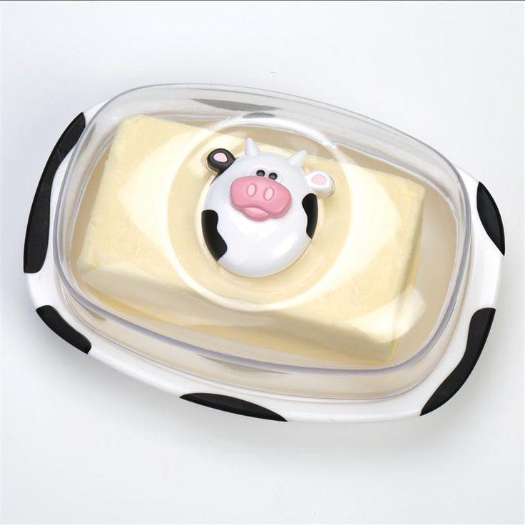 Joie Moo Moo Butter Dish 454 G / 1 Lb Black/White | Kitchen Stuff
