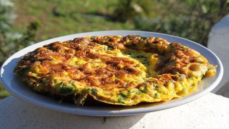 Tortilla – spansk omelett med ost og krydderurter