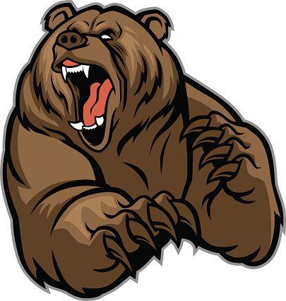 grizzly equipamento Mascote - ilustração de arte vetorial