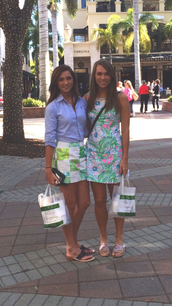Cute Lilly Pulitzer and polo idea! Those two are totally in Naples,FL on 5th! I'd know my vacation home town anywhere!!!!