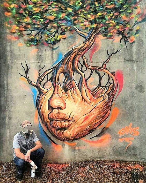 Beautiful street art. Pinterest: pearlxoxoxo