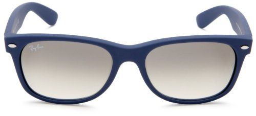 New Ray Ban RB2132 811/32 New Wayfarer Light Blue Rubber/Crystal Gray Gradient Lens 52mm Sunglasses by Ray-Ban. $93.95. Ray-Ban® RB2132 New Wayfarer® sunglasses are a slightly smaller interpretation on the most famous style in sunwear. The iconic Ray-Ban Wayfarer is immediately recognizable anywhere in the world. The Ray-Ban signature logo is displayed on both sculpted temples. The New Wayfarer flaunts a softer eye shape than the original and offers both classic and fashion...
