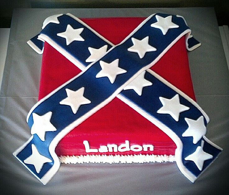 Rebel Flag birthday cake
