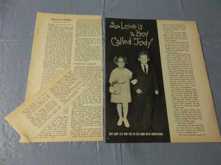 Family Affair Anissa Jones Johnny Whitaker clipping #CF | eBay