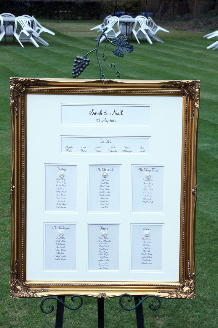 At the forefront of your venue these stunning and tastefully framed luxury table and seating plans offer a stylish solution to your guests seating arrangements. Therefore, why not set the scene at your wedding reception with one of our Luxury Framed Masterpieces!  
