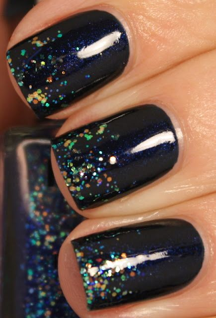 Revlon Midnight affair, tipped with NYX Girls Turks and Caicos