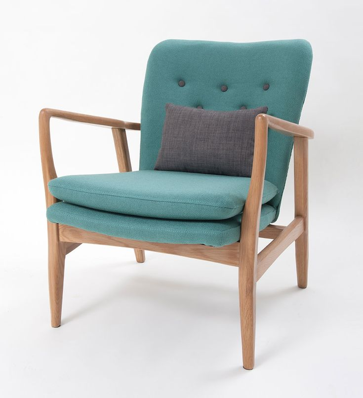 Max armchair in seagreen Scandinavian inspired design. This ultra modern armchair completes the look of any room. Frame made from American oak, with a natural light woodgrain finish.  #scandinavian #americanoak #armchair #comfort #interiordesign #homewares #decor #MYHAH