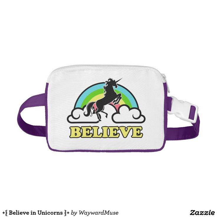 +{ Believe in Unicorns }+ Nylon Fanny Pack ~ For folks who still believe in the magical creatures known as unicorns.