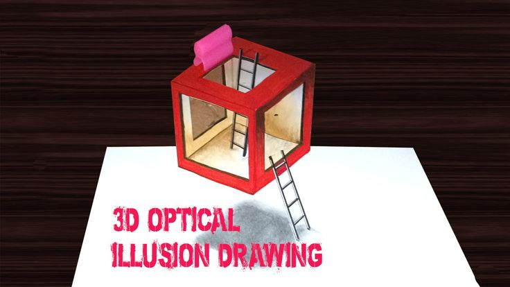 Drawing: hollow box - How to draw 3D Art - YouTube