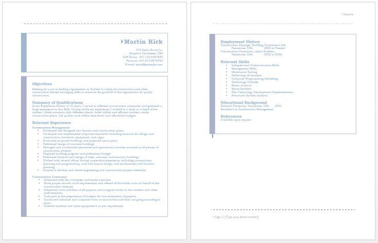 Builder Resume