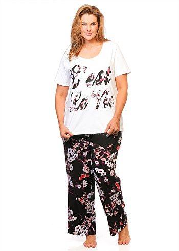 Sleepwear | Plus Size Sleepwear - C'EST LA VIE PJ SET - TS14