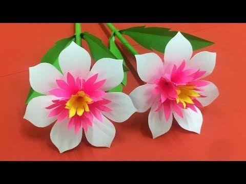 How to Make Beautiful Flower with Paper – Making Paper Flowers Step by Step – DI… – Kreatywnie – Kwiatki