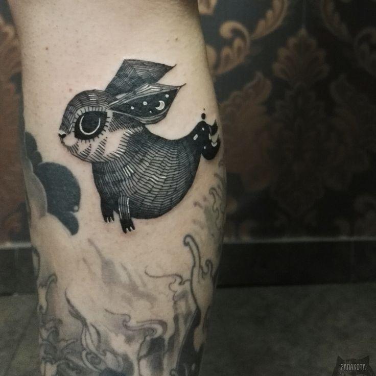 Panakota tattoos www.instagram.com... #tattoo #tatuaz #tattoowork #project #design #ink #inked #graphic #tattuaggio #btattooing #tattuaje #illustration #татуировка #тату #tetovani #tätowierung #tatuajes #panakota #littletattoos #rabbit #bunny