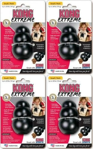 Kong Extreme Small Black 4pk - Chew Toys #Dogs #Dog #Pets #Pet #Gift #Gifts #Christmas #Holiday #Holidays #Present #Presents #Accessories #Dog #Dogs #Chew #Toys #Toy