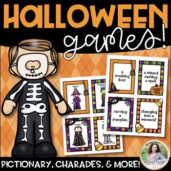 Halloween Games {Charades, Pictionary, 20 Questions, Telephone, & More!}