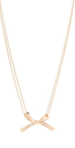 Single Bow Necklace by Tuleste Market at Shopbop