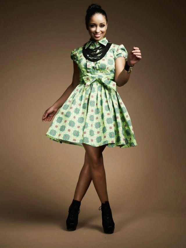 Afrika Giysileri: Şirin Ankara Stilleri Kısa Elbise - Debonke House Of Fashion