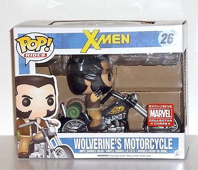 Funko Pop! Wolverine's Motorcycle Marvel Collector Corps Exclusive #26 Rides