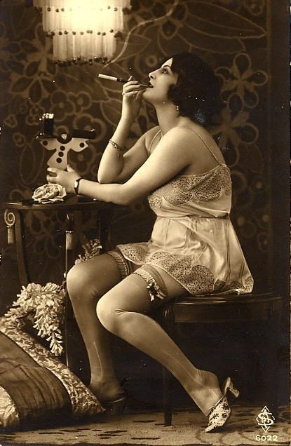 Vintage Lingerie and stockings held by garters