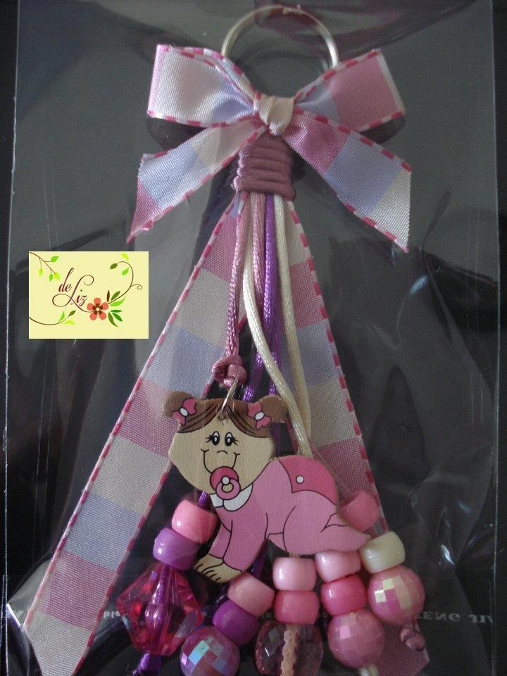 chain baby shower favor gift llavero para recuerdo de baby shower