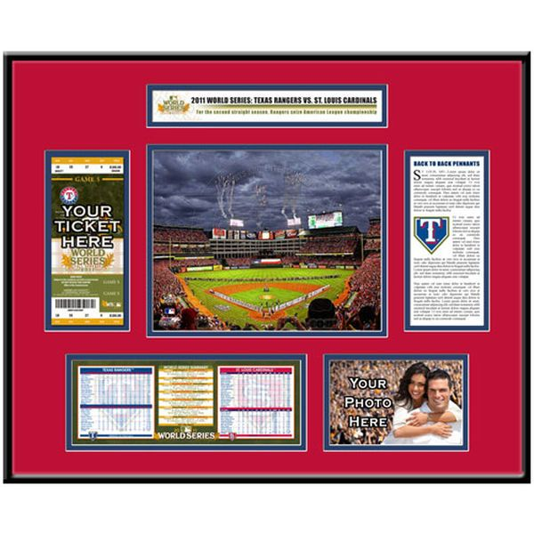 Texas Rangers 2011 World Series Ticket Frame - $149.99