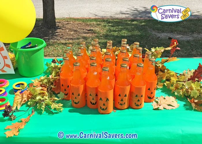 Fall Festival Idea - Pumpkin Pop Ring Toss
