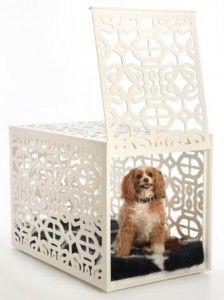 Designer Dog Crate White   #DogHouse #DogCrate