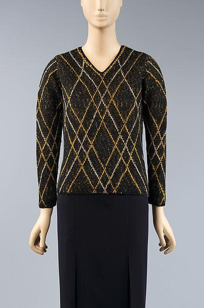 * Sweater wool 1930s  Elsa Schiaparelli