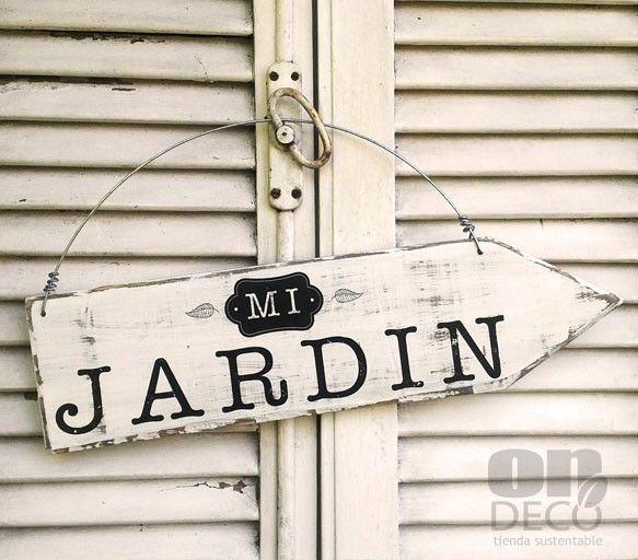 Cartel vintage flecha   MI JARDIN - Comprar en ONDECO