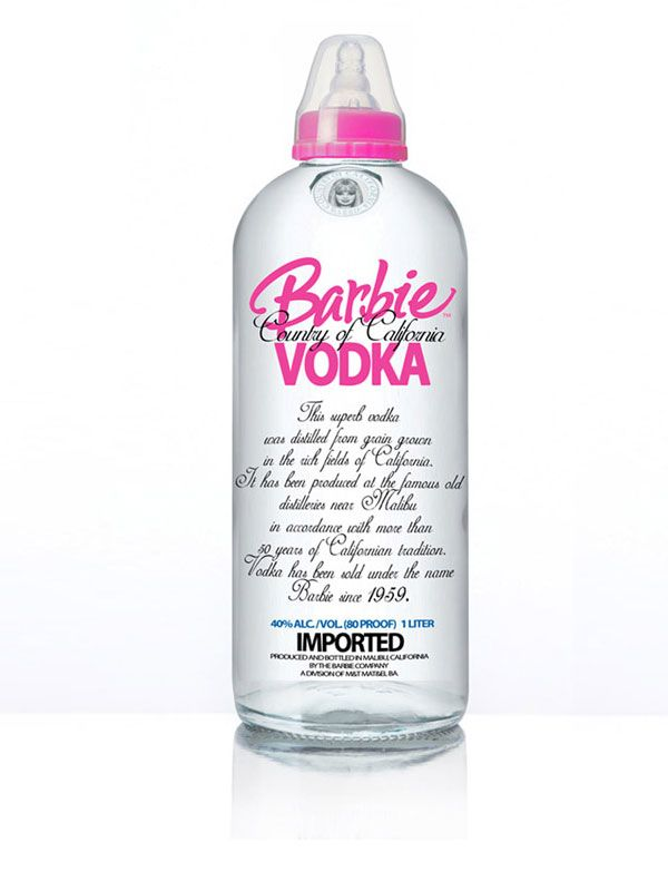 barbie vodka- please tell me this is a real thing.