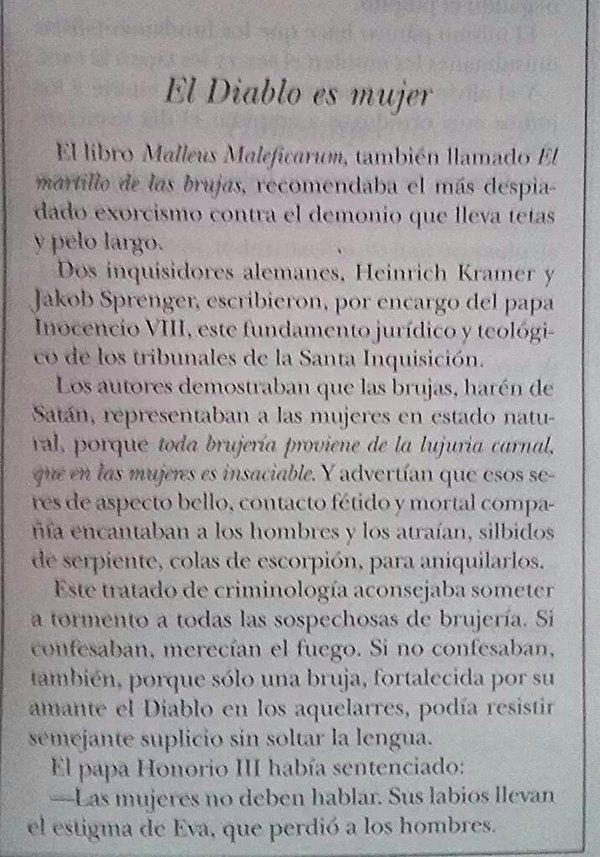 Eduardo Galeano/Fragmento: El diablo es mujer...